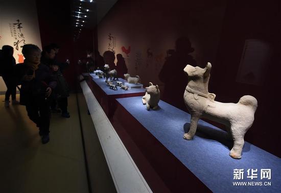 """(文化)(3)南京博物院举办""""幸运狗""""院藏犬文物展"""