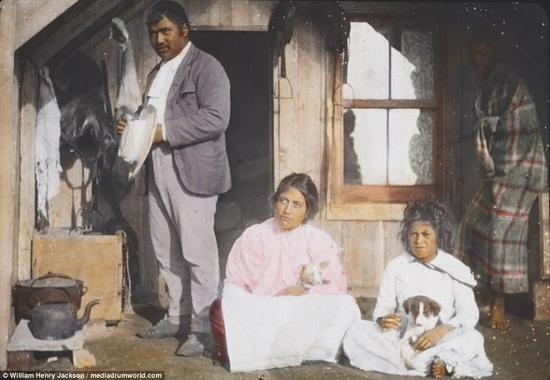 1895年,新西兰的一户家庭