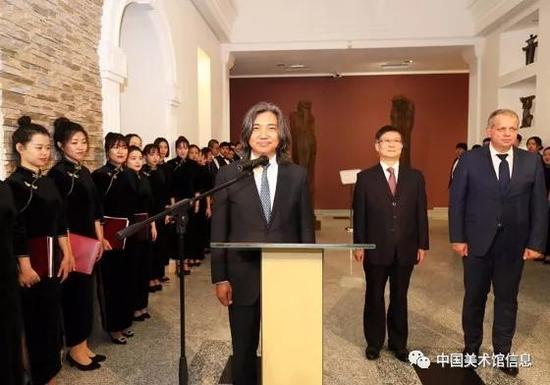 中国美术馆馆长吴为山致辞