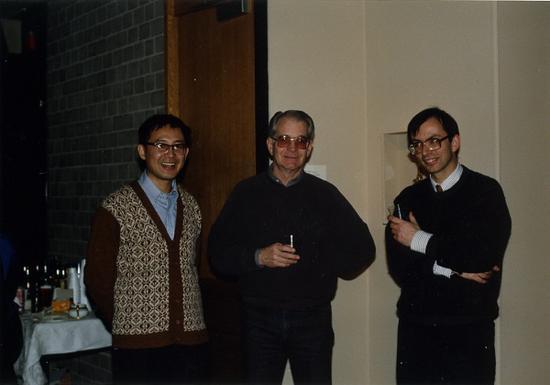 1992年白谦慎和班宗华(中)、马麟(右)