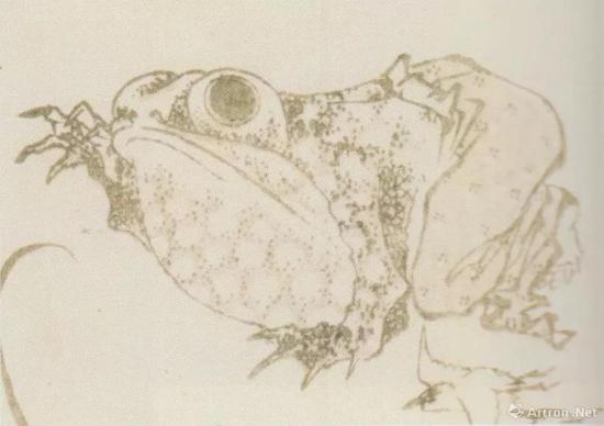 """葛饰北斎""""北斎漫画""""十编、1819、墨摺、淡彩摺、22.9 x15.8cm、浦上苍穹堂、p.154"""