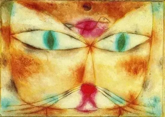 保罗·克利的许多画作里都有猫的元素