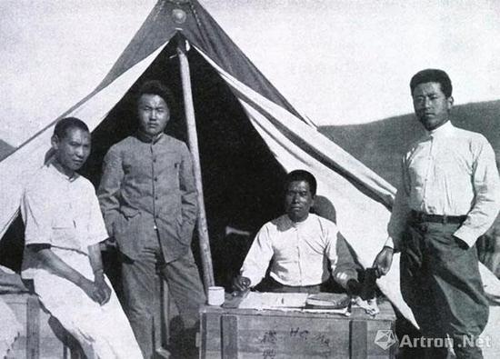 中国西北科学考查团4名气象学生团员(左起):崔鹤峰、刘衍淮、马叶谦、李宪之