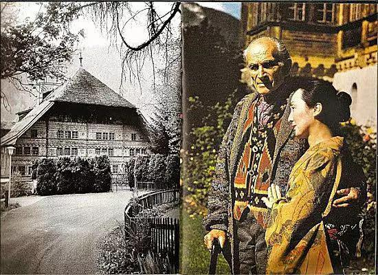 巴尔蒂斯与节子,与他们瑞士的居所。