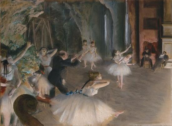 Edgar Degas, The Rehearsal Onstage (1874) (Photo: The Metropolitan Museum of Art via Wikimedia Commons)