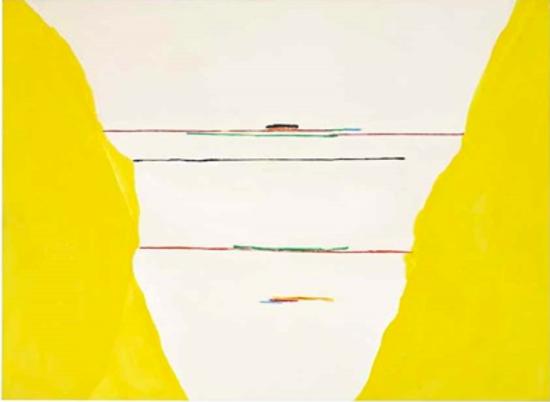 海伦・弗兰肯特尔,《Yellow Saga》,1972。图片:致谢佳士得