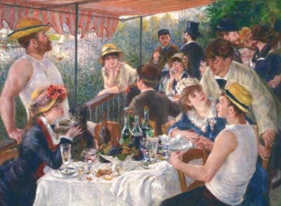《船上的午宴》,雷诺阿,1880-1881年