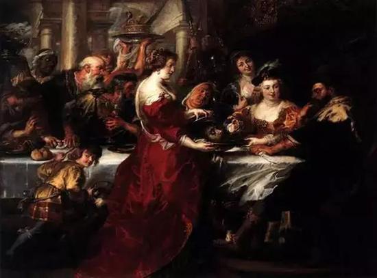希律王之宴 布面油画 1638年