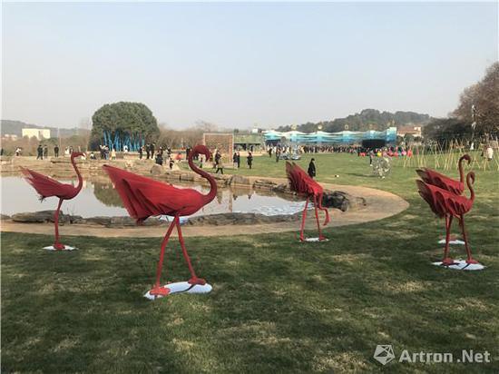 """""""27度角——首届东湖国际生态雕塑双年展""""展览现场"""