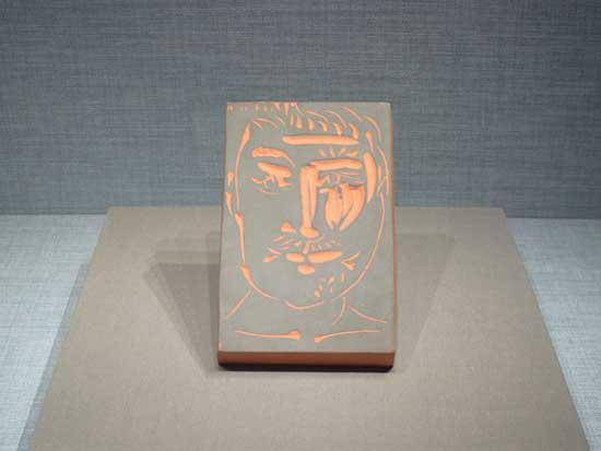 毕加索作品:男子的面孔
