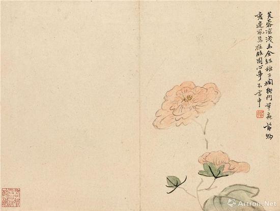 陈撰 花卉册 水墨纸本