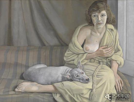《带着白狗的女子》,卢西恩·弗洛伊德,1950年-1951年,泰特美术馆