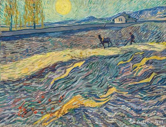2017年梵高作品《田野里耕地的农夫》以8130万美元的价格售出,略低于其1990年的拍卖纪录