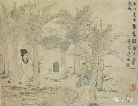 清 金农 玉川先生煎茶图