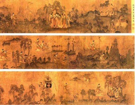 宋人摹顾恺之《洛神赋图》卷 辽宁省博物馆