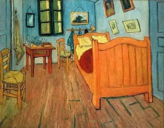 还有,最为知名的《星夜》,那是他在阿尔勒附近圣雷米的精神病院所作。