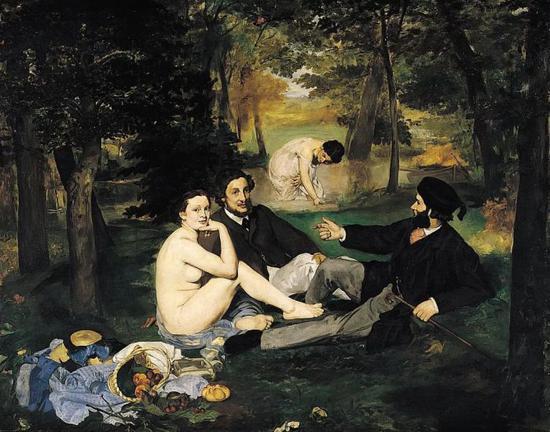 草地上的午餐 208x264cm 布面油画 1862年