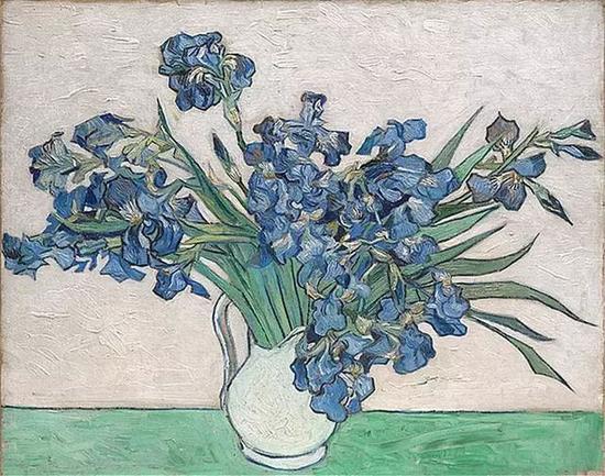 Irises,1890,Vincent van Gogh,大都会艺术博物馆藏