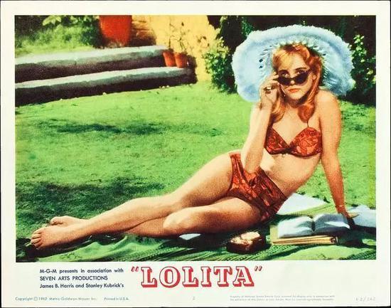 1962年电影《洛丽塔 Lolita》电影海报。