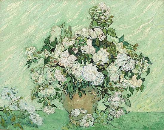 Roses,1890,Vincent van Gogh,华盛顿国家艺廊藏