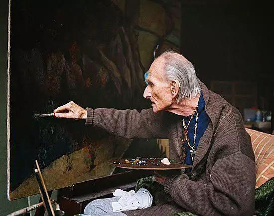 1998年,在瑞士居所创作的巴尔蒂斯。2001年,他也在这里离世。