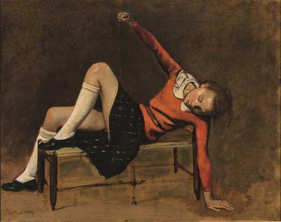 巴尔蒂斯作品《长凳上的特雷莎》