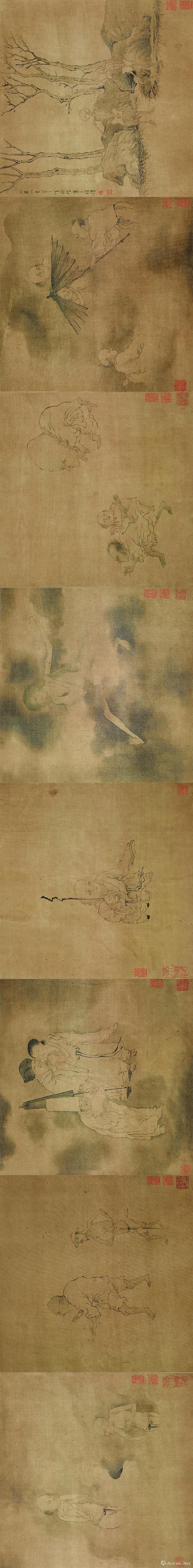 罗聘《鬼趣图》 41.5×1246cm绢本设色