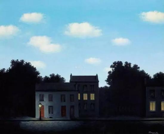 1949年作于布鲁塞尔 光之帝国 布面油画 48.5x58.7cm