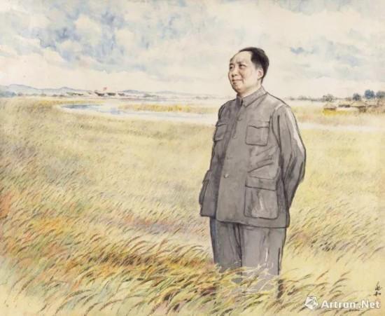 蒋兆和 《毛主席在麦田》 920万元成交 中国嘉德2017年秋拍