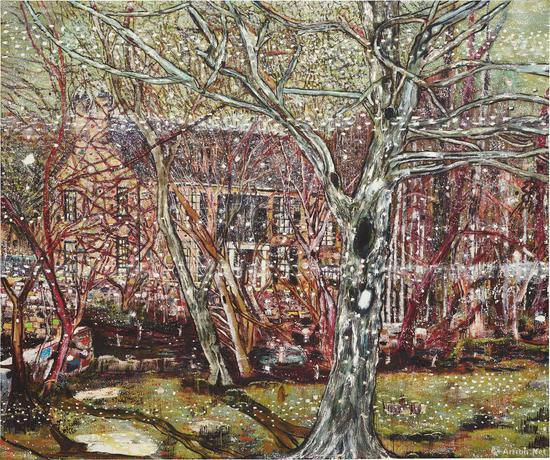 彼得·多伊格《玫瑰谷》在2017年富艺斯拍卖行以2880万美元成交,是目前最贵的在世英国艺术家