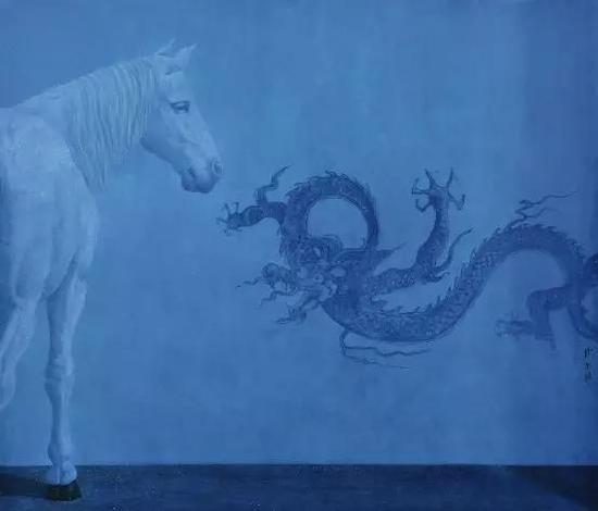 徐累 2009年作 龙壁166×143cm