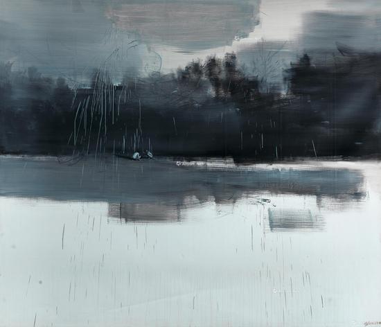 贾蔼力《无题》布面油画220×300cm 2007年作2017年北京荣宝秋拍成交价:448.5万元