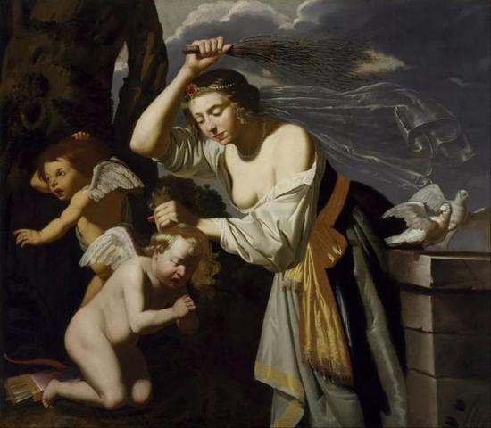 Jan van Bijlert Venus Chastising Cupid