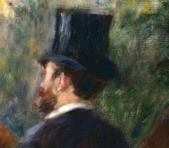 收藏家和《美术报》评论家伊弗留西,《船上的午宴》(局部)