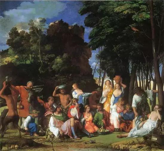 诸神的盛宴 170x188cm 布面油画 1514年