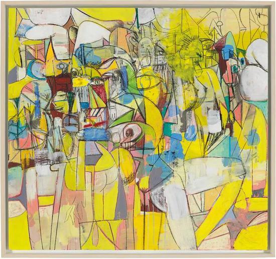 乔治水-康多 (1957年生)   《动态人像》   压克力 炭 粉彩 亚麻痹 艺术家画框   所拥有151.1 x160 cm。   2013年干   估价:英镑 1,000,000 - 1,500,000