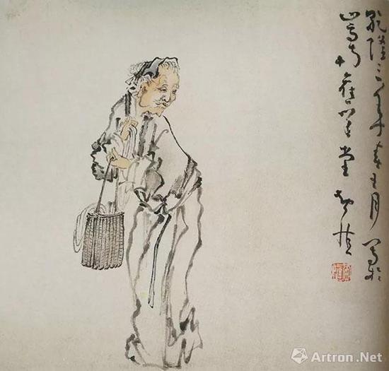 《杂画册》之老妪 常州博物馆藏