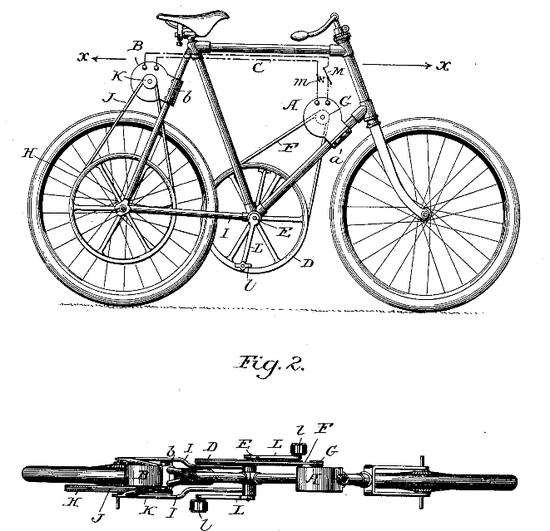 ▲1898年,Gordon J。 Scott,最脑残的系列驱动自行车