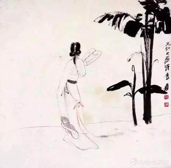 张大千《充和曲影》1938年作