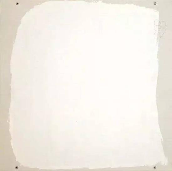 Part 15, 1993,Oil on corrugated conservation board,38.1 × 38.1 cm.