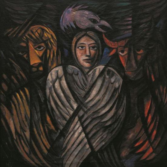 被指为赝品的娜塔莉娅·冈察洛娃作品 《福音》图片:根特美术馆
