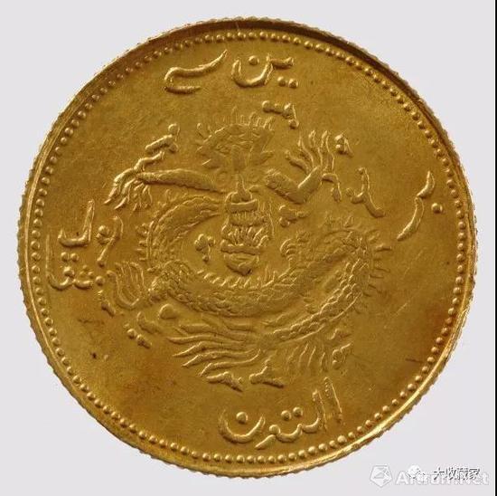 李荫轩旧藏,饷金一钱 ,时代:清 ,尺寸:径18.83 毫米 。