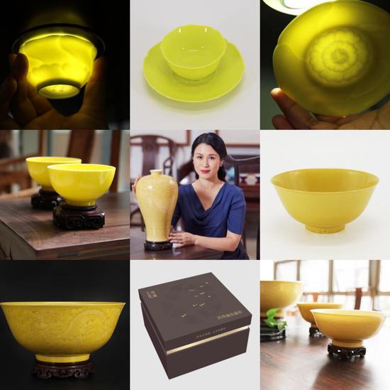▲玮瑜文化出品的精美黄釉器