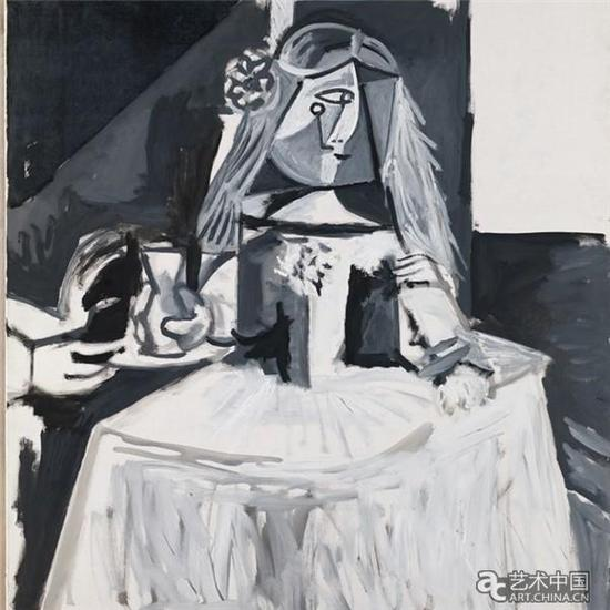 巴勃罗·毕加索,《宫女》(公主玛格丽塔玛丽亚) (1957),图片来源:CNN