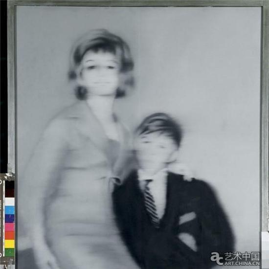 格哈德·里希特,《海尔格·马图拉与她的未婚夫》(1966),图片来源:CNN