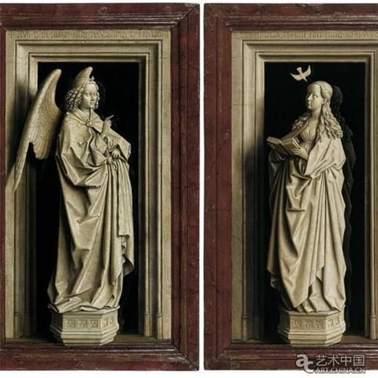 《天使报喜》(大天使加布里埃尔;Virgin Mary)(1433 - 1435),图片来源:CNN