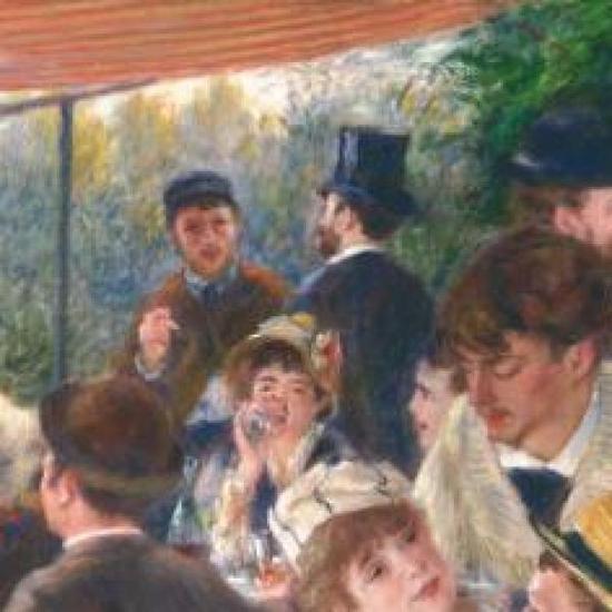 女演员Ellen Andree,《船上的午宴》(局部)