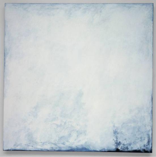 Series #11 (White) , 2003.oil on canvas,106.7 cm x 106.7 cm.