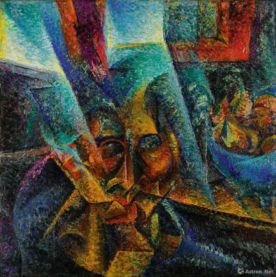翁贝托·波丘尼 《头部,光线与气氛》60x60cm 1912年 成交价:907万英镑(折合7975万元人民币)