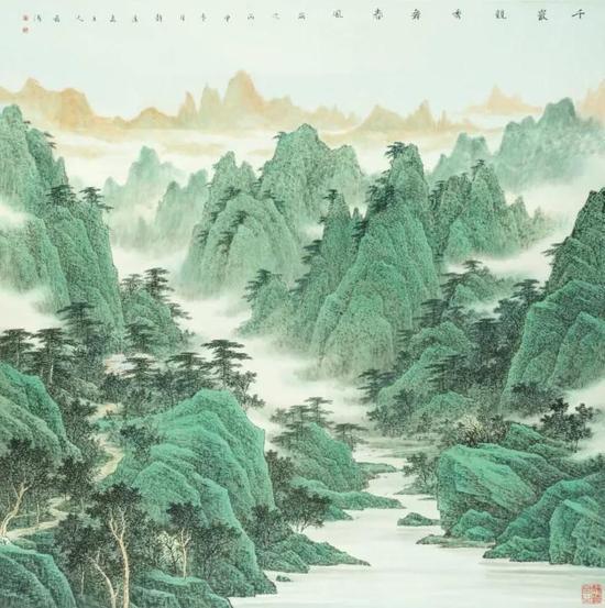 千岩竞秀舞春风 184cm×182cm